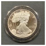 2000 Proof Silver Eagle An Airtight Container