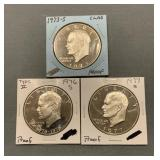 3x - Proof Eisenhower Dollars