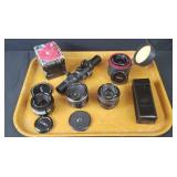 Assortment Of Vintage Camera Lenses And More