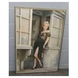 Framed Marilyn Monroe Priont 28 X 40