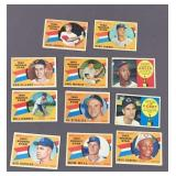 11x Topps 1960 Rookie Baseball Cards