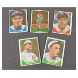 5x Fleer 1960 Baseball Greats Cards