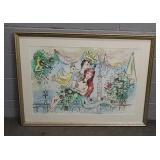 Framed Mermaid Art 42x30