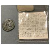 Roman Copper / Silver Coin 284-305ad