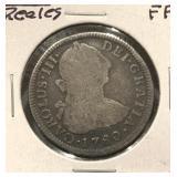1780 Mexico 2 Reales Silver Coin