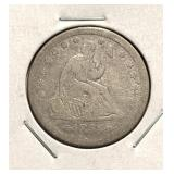 1855 Liberty Seated Quarter