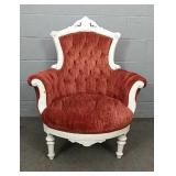 Painted Victorian Button Back Chair