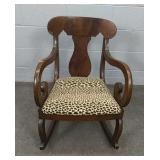 Antique Scroll Arm Rocking Chair