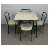 Vintage Cosco Folding Table And 4 Chairs