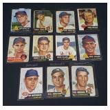 11 X Bid 1953 Topps Baseball Cards.