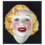 Bisque Marilyn Monroe Face Sculpture