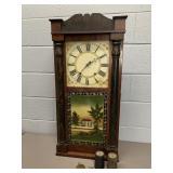 1863 E Thayer Wood Works Shelf Clock