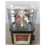 Fiber Optic Flower And Clock