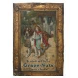 Grape Nut Tin Advertising Sign