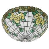 21 in. Inverted Hanging Leaded Lamp Shade