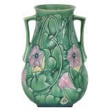 10.5 in. Roseville Morning Glory Pottery Vase