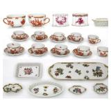 29 Pcs. Quality Hand Painted Herend Porcelain