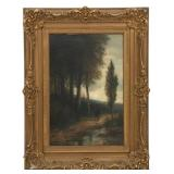 W. Cole O/C Landscape Painting