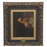 S.R. Berteaux O/C Portrait of a Monk