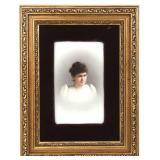 KPM Hand Painted Portrait Plaque