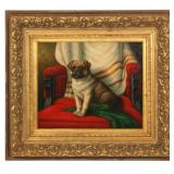 J. Cooper O/C Portrait Of A Dog