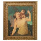 Roman School, 19th Century, Venus And Cupid