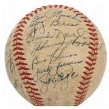 1950s New York Yankees Autographed Baseball