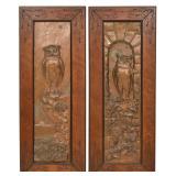 Pr. Owl Relief Plaster Plaques