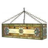 Rectangular Hanging Leaded Lamp