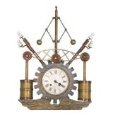 German Industrial Wall Hanging Clock