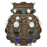 Gothic Jeweled Pull Down Hall Lamp Shade