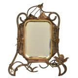 Brass Beveled Table Mirror