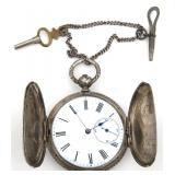 Double Hinged Silver Hunter Case Pocket Watch