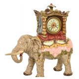 Julius Dressler Porcelain Figural Elephant Clock
