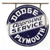 Dodge, Plymouth Auto Service Double Sided Sign