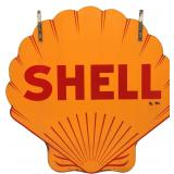 Lg. Shell Gas Double Sided Porcelain Sign
