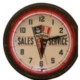 Hudson Sales & Service Neon Wall Clock