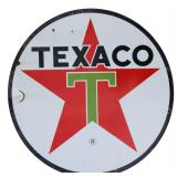 71 in. Double Sided Porcelain Texaco Sign