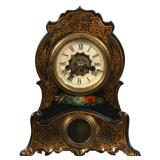 Miniature Iron Front Mantle Clock