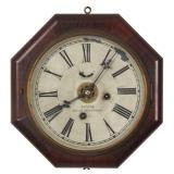 Waterbury Octagon Marine Lever Clock w/ Alarm
