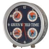 Gruen World Time Clock