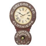Baird Clothier Advertising Clock
