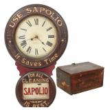 Baird Soap Advertising Clock With Box