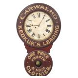 Baird Clothier Advertising Clock