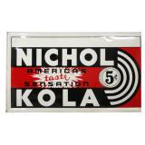 Nichol Kola Embossed Tin Advertising Sign