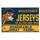 Jersey Farms Double Sided Advertising Sign