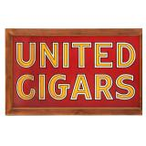 Lg. United Cigars Porcelain Sign