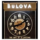 Bulova Electric Advertising Clock