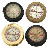 4 Chelsea & Seth Thomas Radio Room Clocks