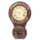 Baird Leather Oil Advertising Clock